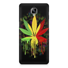 Marihuana colour contrasting pattern design OnePlus 3/3T printed back cover