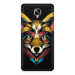 Fox sketch design OnePlus 3/3T printed back cover