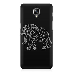 Geometrical elephant design OnePlus 3/3T printed back cover