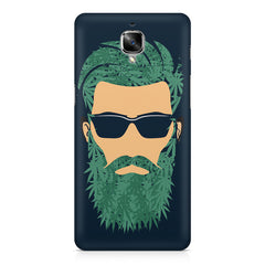 Beard guy with goggle sketch design OnePlus 3/3T printed back cover