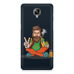 Beard guy smoking sitting design OnePlus 3/3T printed back cover