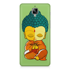 Buddha caricature design OnePlus 3/3T printed back cover