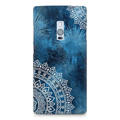 A Vivid Blue ethnic yet cool pattern OnePlus Two hard plastic printed back cover