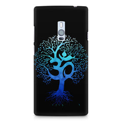 A beautiful blue tree with Om inscribed OnePlus Two hard plastic printed back cover