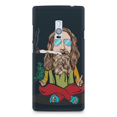 Baba Smoking Cigar design OnePlus Two hard plastic printed back cover