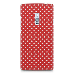 Cute hearts all over the cover design    OnePlus Two hard plastic printed back cover