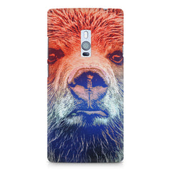 Zoomed Bear Design  OnePlus Two hard plastic printed back cover
