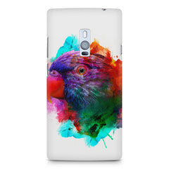 Colourful parrot design OnePlus Two hard plastic printed back cover