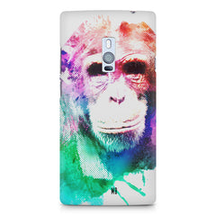 Colourful Monkey portrait OnePlus Two hard plastic printed back cover