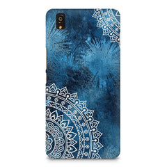 A Vivid Blue ethnic yet cool pattern OnePlus X hard plastic printed back cover