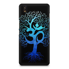 A beautiful blue tree with Om inscribed OnePlus X hard plastic printed back cover