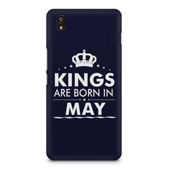 Kings are born in May design    OnePlus X hard plastic printed back cover