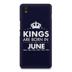 Kings are born in June design    OnePlus X hard plastic printed back cover