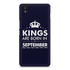 Kings are born in September design    OnePlus X hard plastic printed back cover