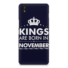 Kings are born in November design    OnePlus X hard plastic printed back cover