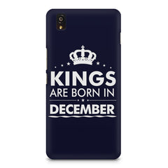 Kings are born in December design    OnePlus X hard plastic printed back cover