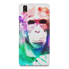 Colourful Monkey portrait OnePlus X hard plastic printed back cover