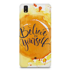 Believe in Yourself OnePlus X hard plastic printed back cover