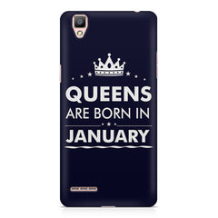 Queens are born in January quote design    Oppo R9 hard plastic printed back cover