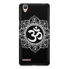 Ethnic Pattern with OM inscribed Oppo R9 hard plastic printed back cover