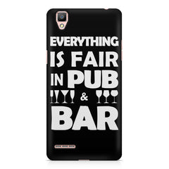 Everything is fair in Pub and Bar quote design    Oppo R9 hard plastic printed back cover