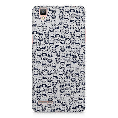 Cute Pandas all over the cover design    Oppo R9 hard plastic printed back cover