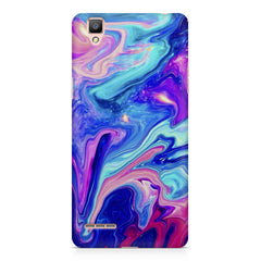 Colours spill design    Oppo R9 hard plastic printed back cover