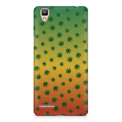Multicolour leaf overall design Oppo R9 hard plastic printed back cover