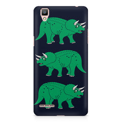 Stegosaurus cartoon design Oppo R9 hard plastic printed back cover