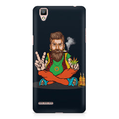 Man smoking joint pattern Oppo R9 hard plastic printed back cover