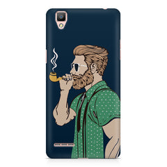 Man smoking cigar Oppo R9 hard plastic printed back cover