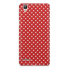 Cute hearts all over the cover design    Oppo R7 hard plastic printed back cover