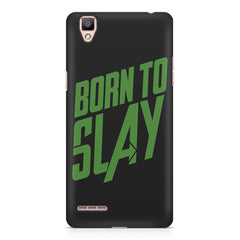 Born to Slay Design Oppo R7 hard plastic printed back cover