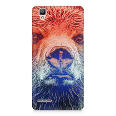 Zoomed Bear Design  Oppo R7 hard plastic printed back cover