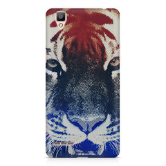Pixel Tiger Design Oppo R7 hard plastic printed back cover