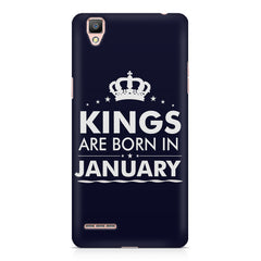 Kings are born in January design    Oppo F1 hard plastic printed back cover