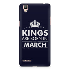 Kings are born in March design    Oppo A35 hard plastic printed back cover