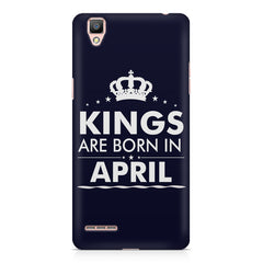 Kings are born in April design    Oppo R7 hard plastic printed back cover