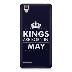 Kings are born in May design    Oppo R7 hard plastic printed back cover