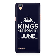 Kings are born in June design    Oppo A35 hard plastic printed back cover