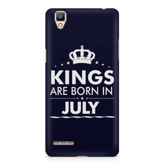 Kings are born in July design    Oppo F1 hard plastic printed back cover