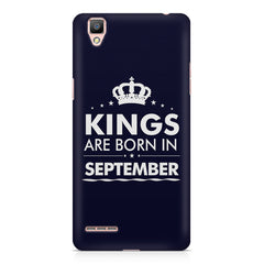 Kings are born in September design    Oppo F1 hard plastic printed back cover