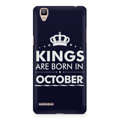 Kings are born in October design    Oppo F1 hard plastic printed back cover