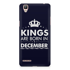 Kings are born in December design    Oppo F1 hard plastic printed back cover