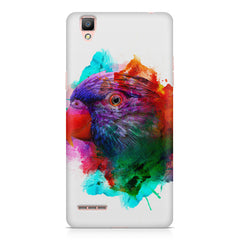 Colourful parrot design Oppo F1 hard plastic printed back cover