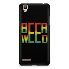 Beer Weed Oppo A35 hard plastic printed back cover