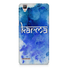 Karma Oppo R7 hard plastic printed back cover