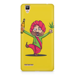 Sardar dancing with Beer and Marijuana  Oppo F1 hard plastic printed back cover
