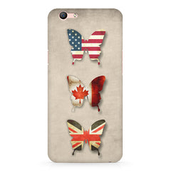 Butterfly in country flag colors Oppo A57  printed back cover