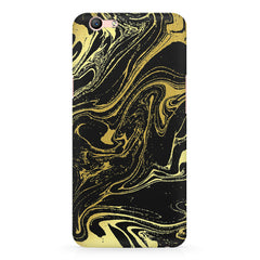Golden black marble design Oppo R11 Plus  printed back cover